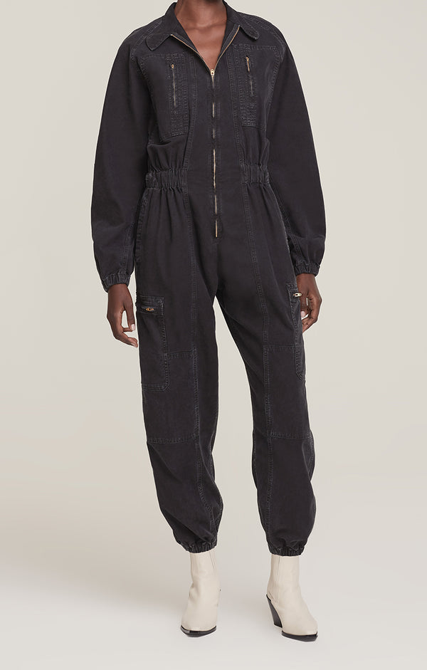Marin Flight Suit Washed Black front