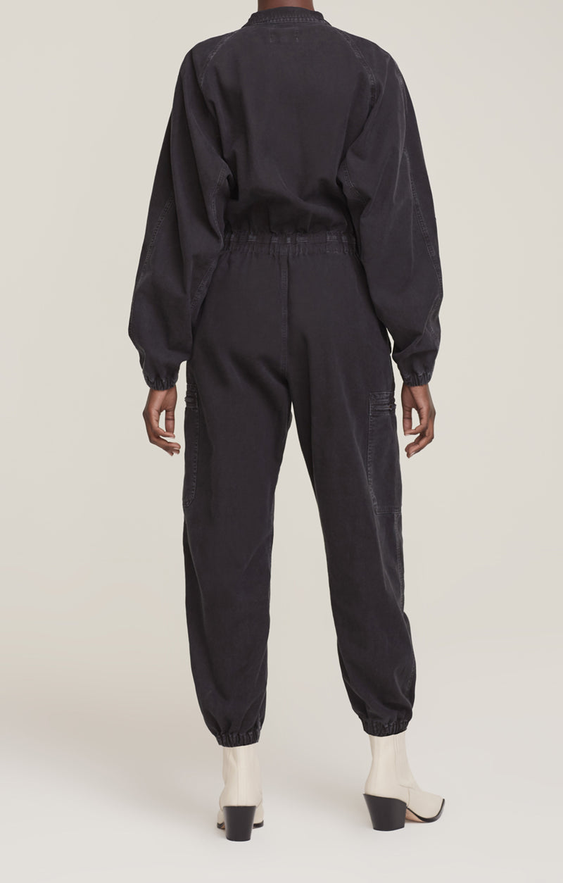 Marin Flight Suit Washed Black back