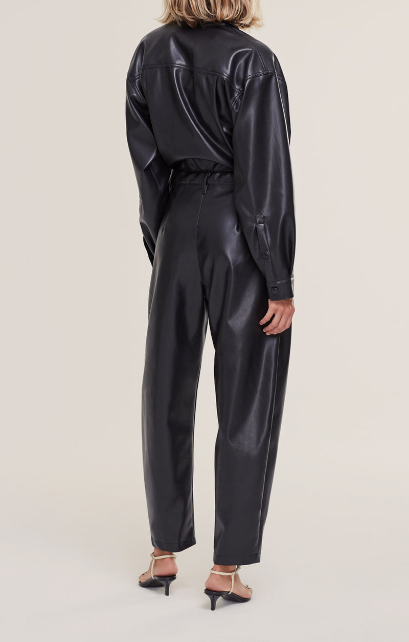 Vegan Leather 80's Jumpsuit back Detox