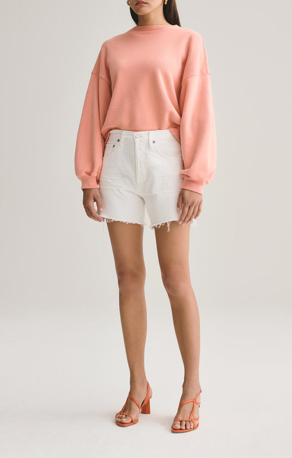 reese relaxed cut off short tissue front