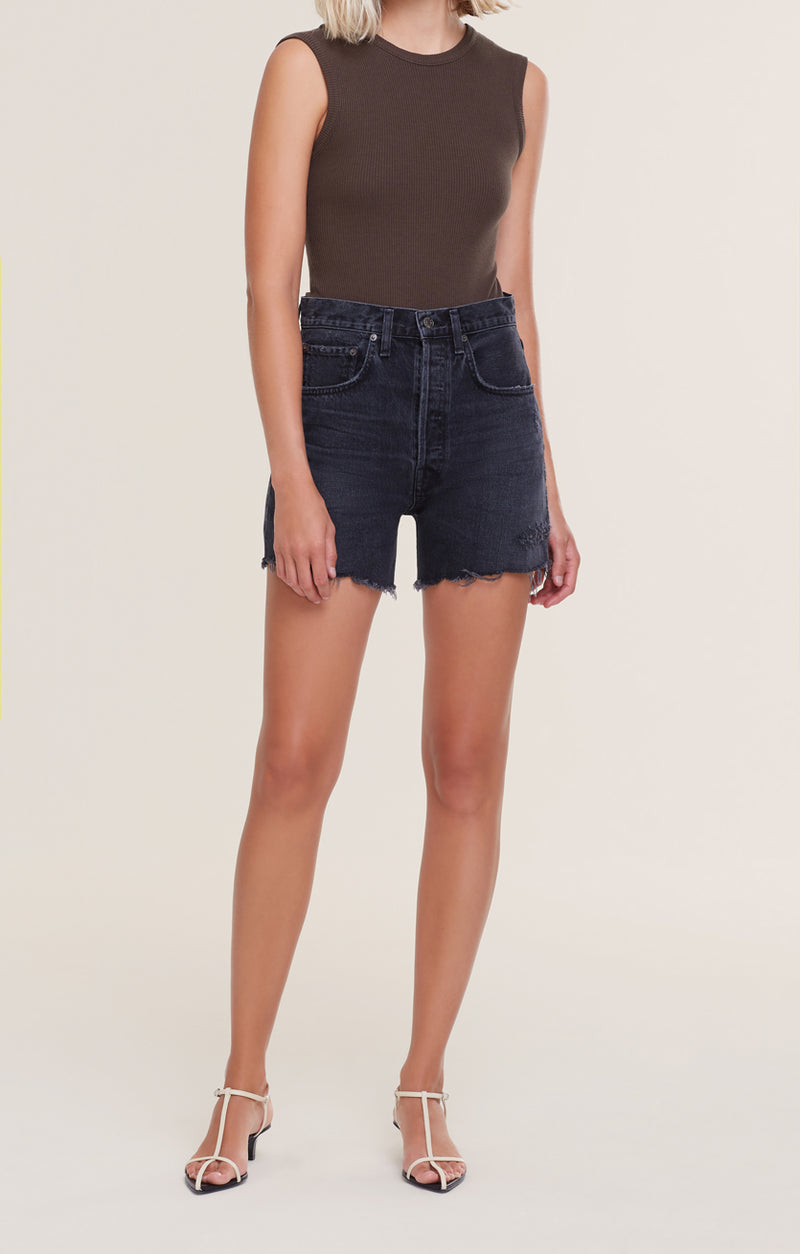 Riley High Rise Slim Short Vortex front