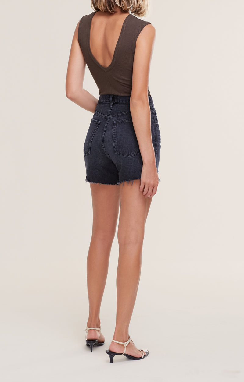 Riley High Rise Slim Short Vortex back
