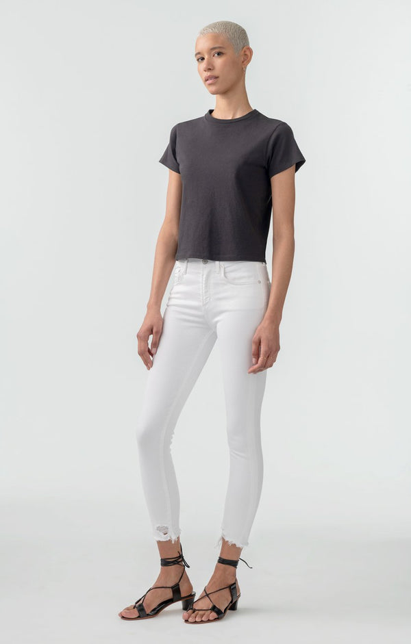 sophie mid rise skinny crop sanction back