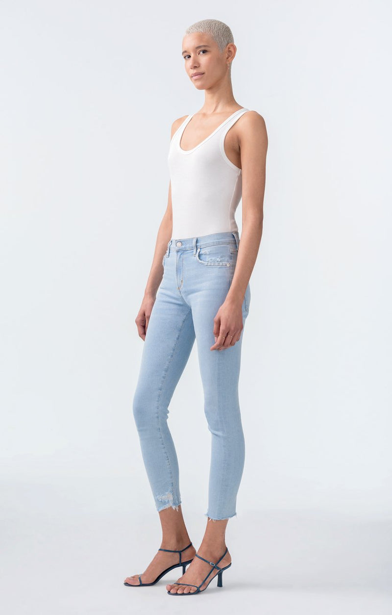 sophie mid rise skinny crop parallel back