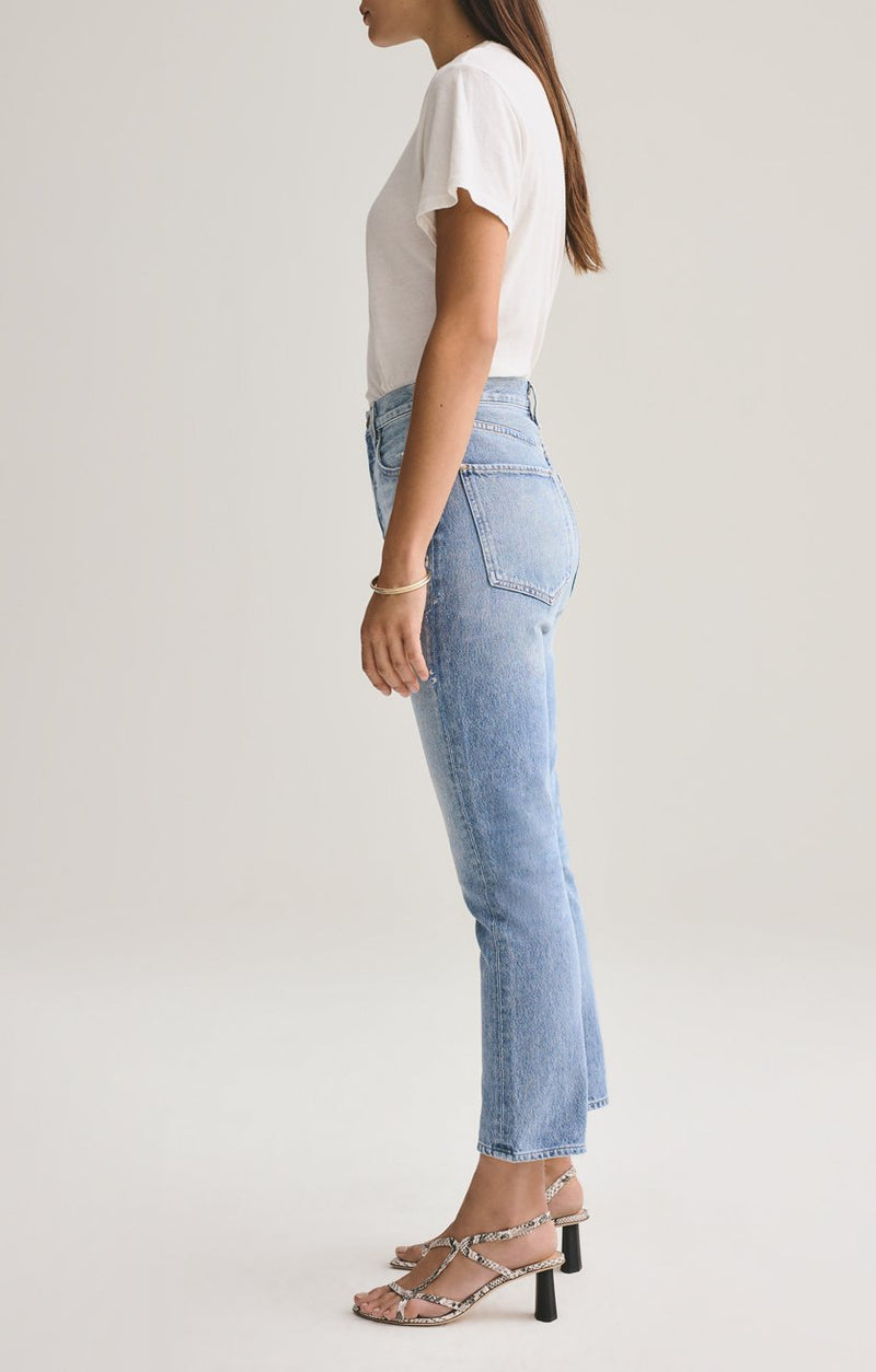 riley high rise straight crop blue rock back