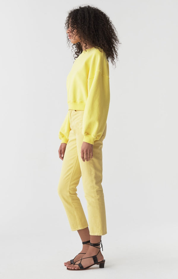 riley high rise straight crop lemon back