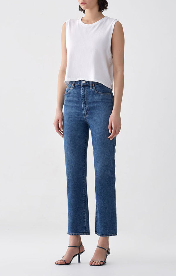 Pinch Waist High Rise Kick Subdued side