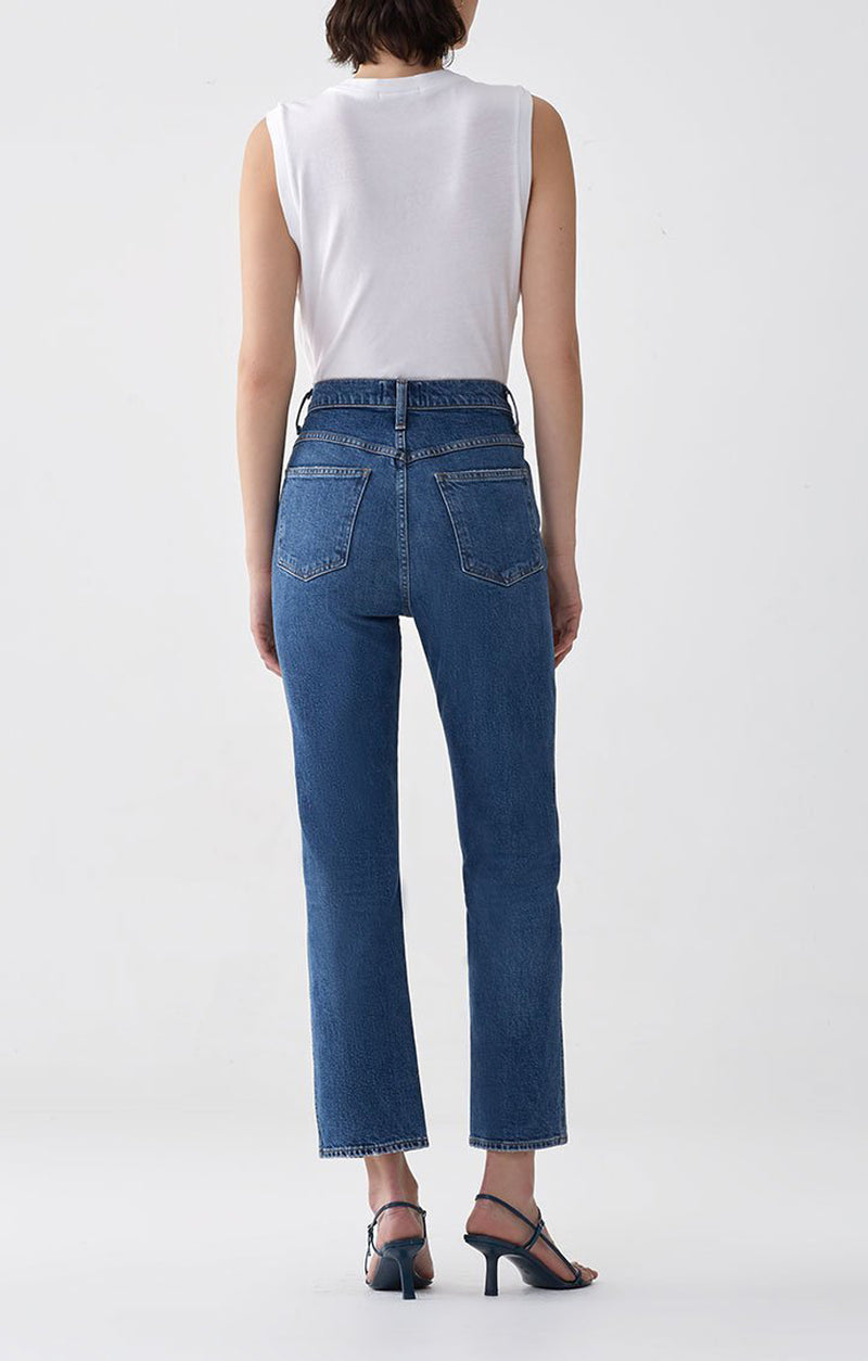 Pinch Waist High Rise Kick in Subdued