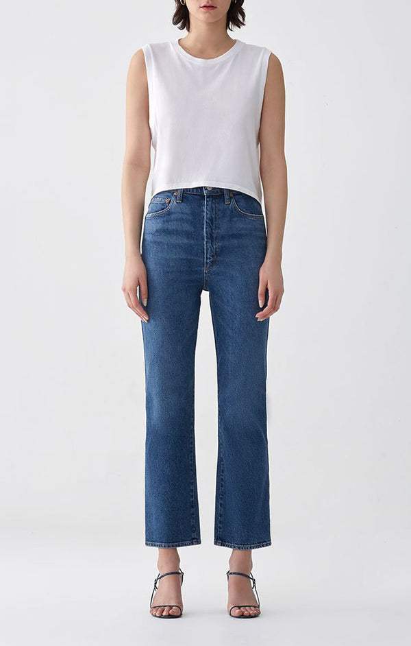 Pinch Waist High Rise Kick Subdued front