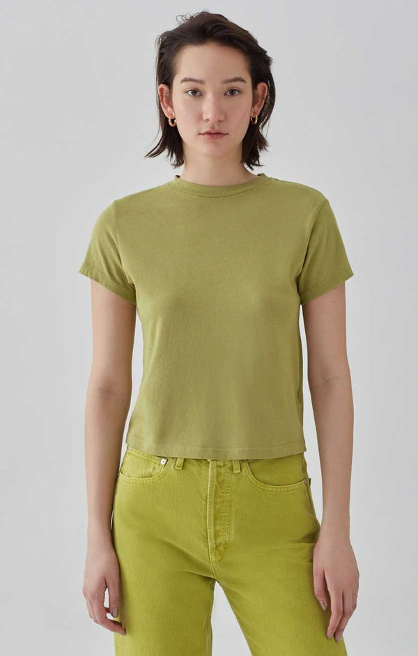 baby tee matcha front