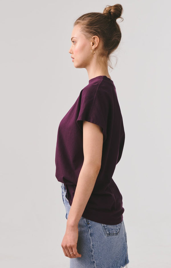 sleeveless oversized boxy tee amethyst back