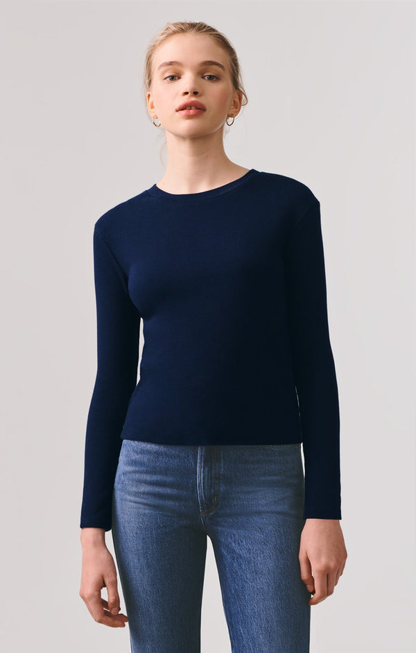 long sleeve crew neck rib tee arctic front