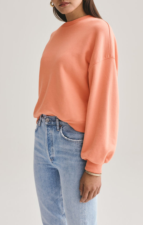 balloon sleeve sweatshirt creamsicle back