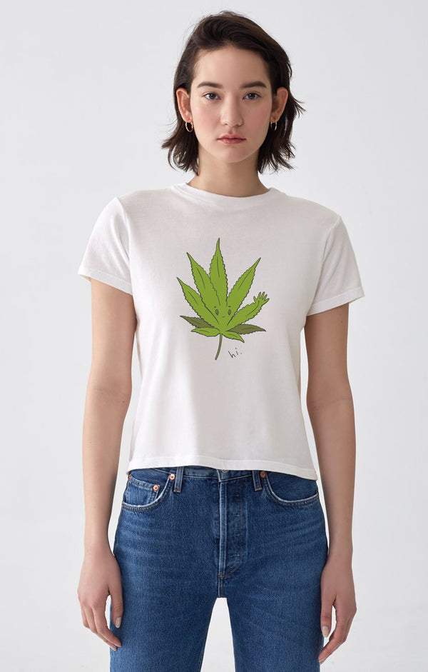 cannabis baby tee paper front