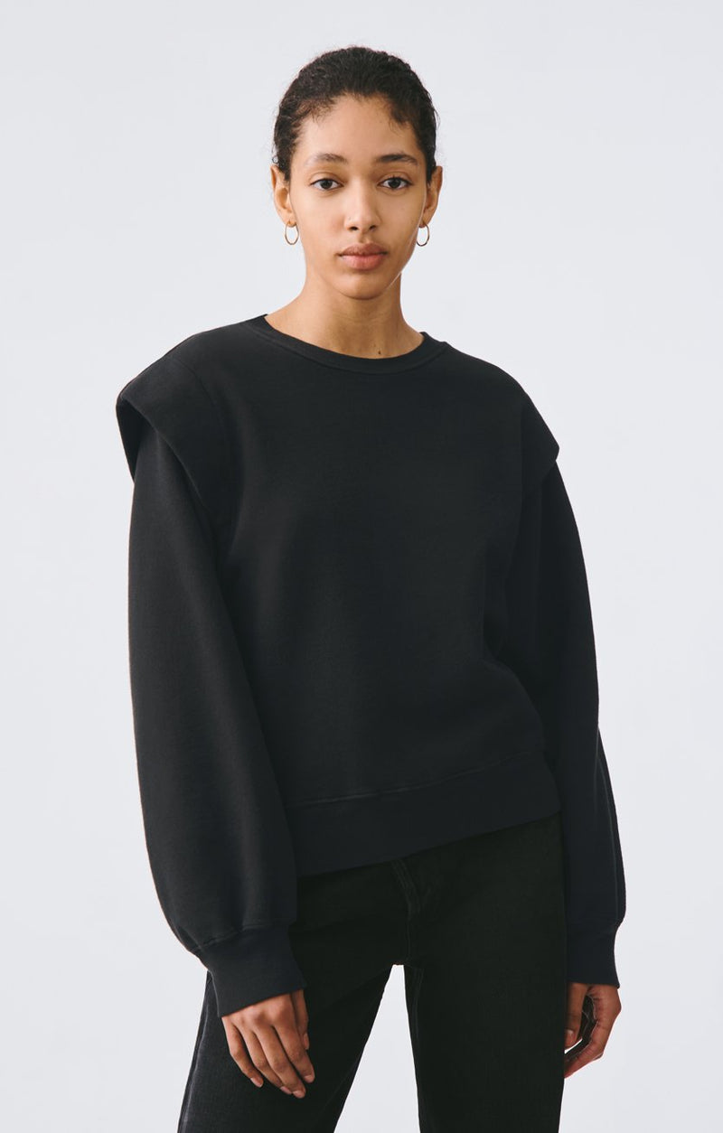 80s pleated shoulder sweatshirt beltway front
