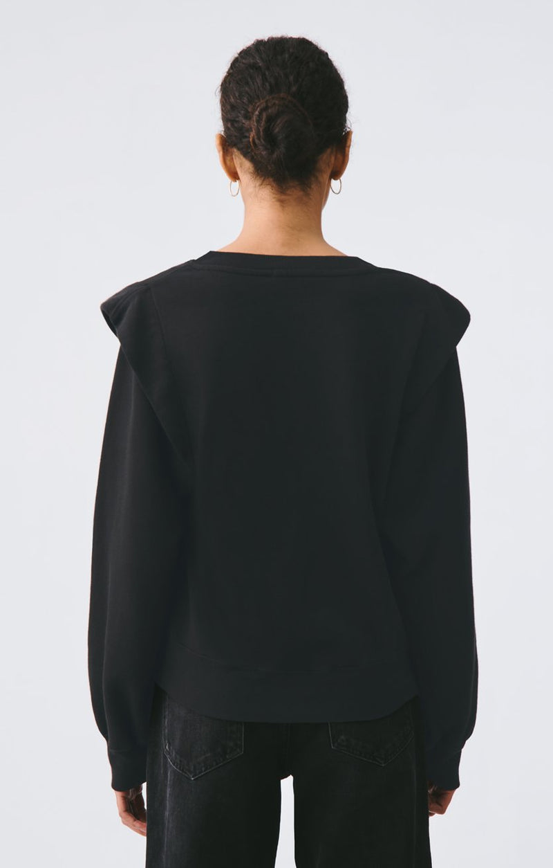 80s pleated shoulder sweatshirt beltway side