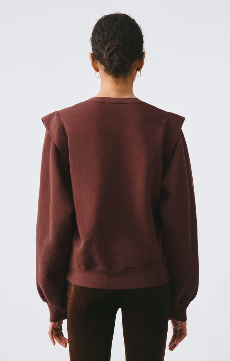 80s pleated shoulder sweatshirt pumpernickel side