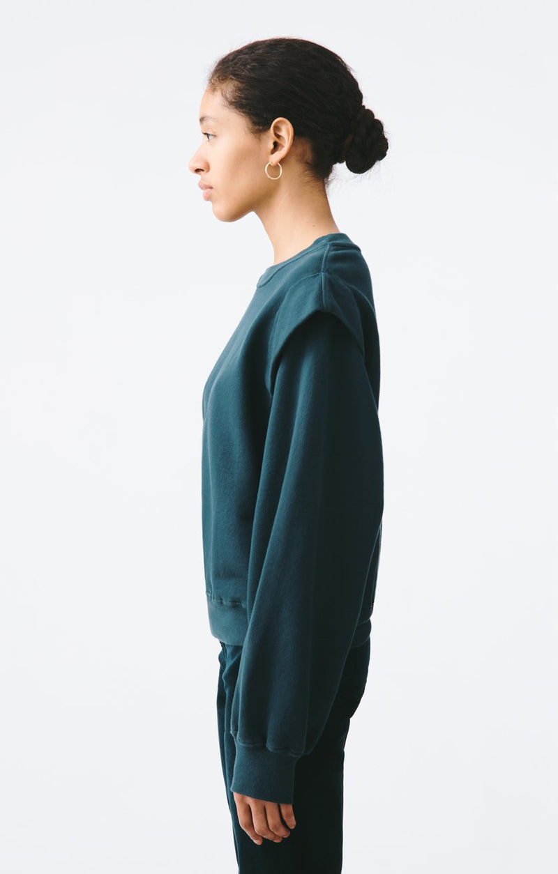 80s pleated shoulder sweatshirt seawater back
