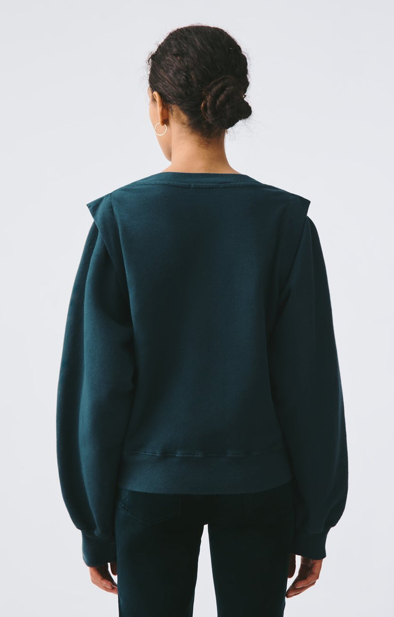 80s pleated shoulder sweatshirt seawater side