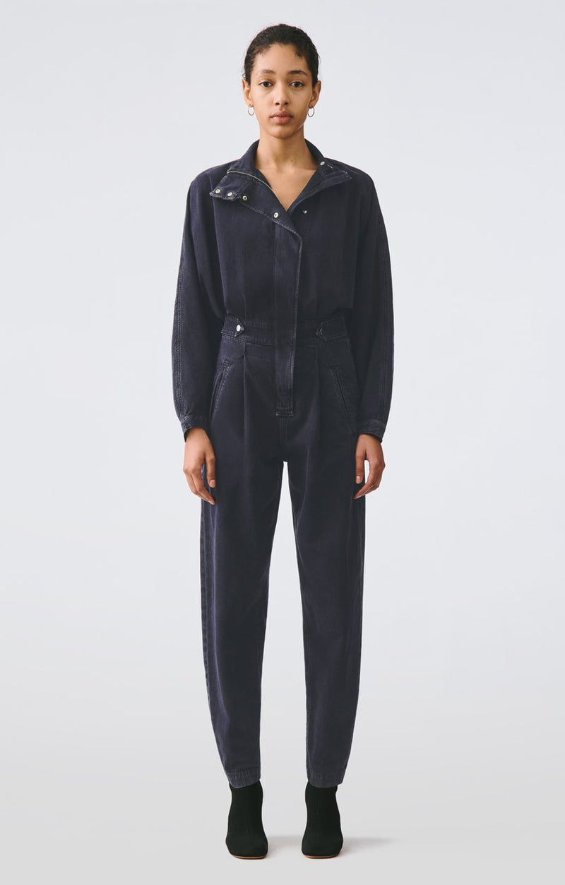 ina high collar zip jumpsuit outcast front