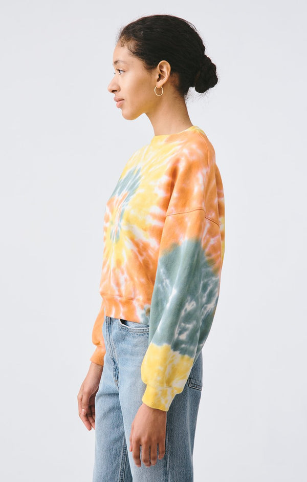 balloon sleeve sweatshirt swirled back