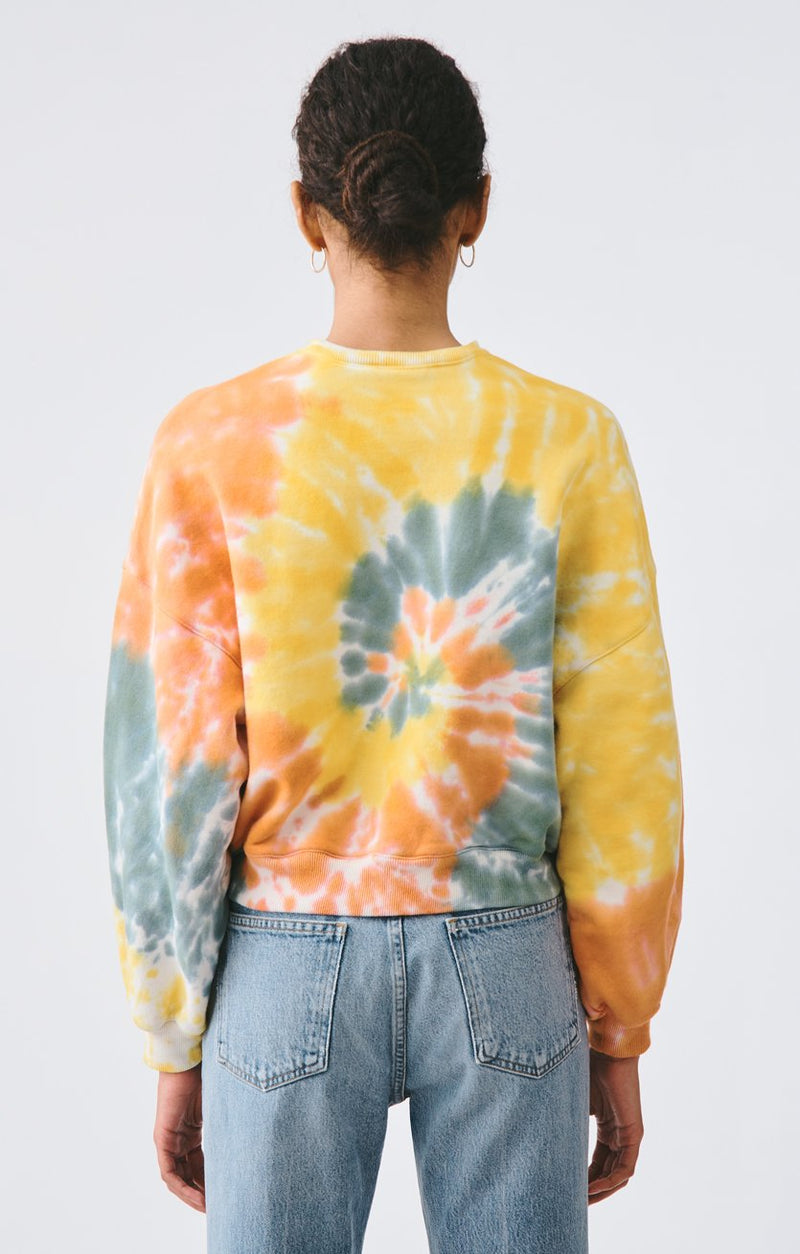 balloon sleeve sweatshirt swirled side