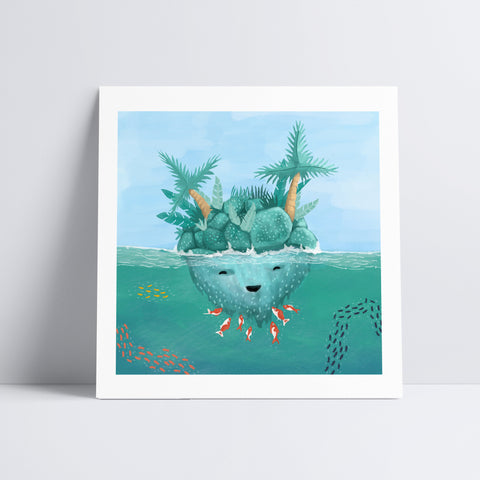 Island Tickles Art Print