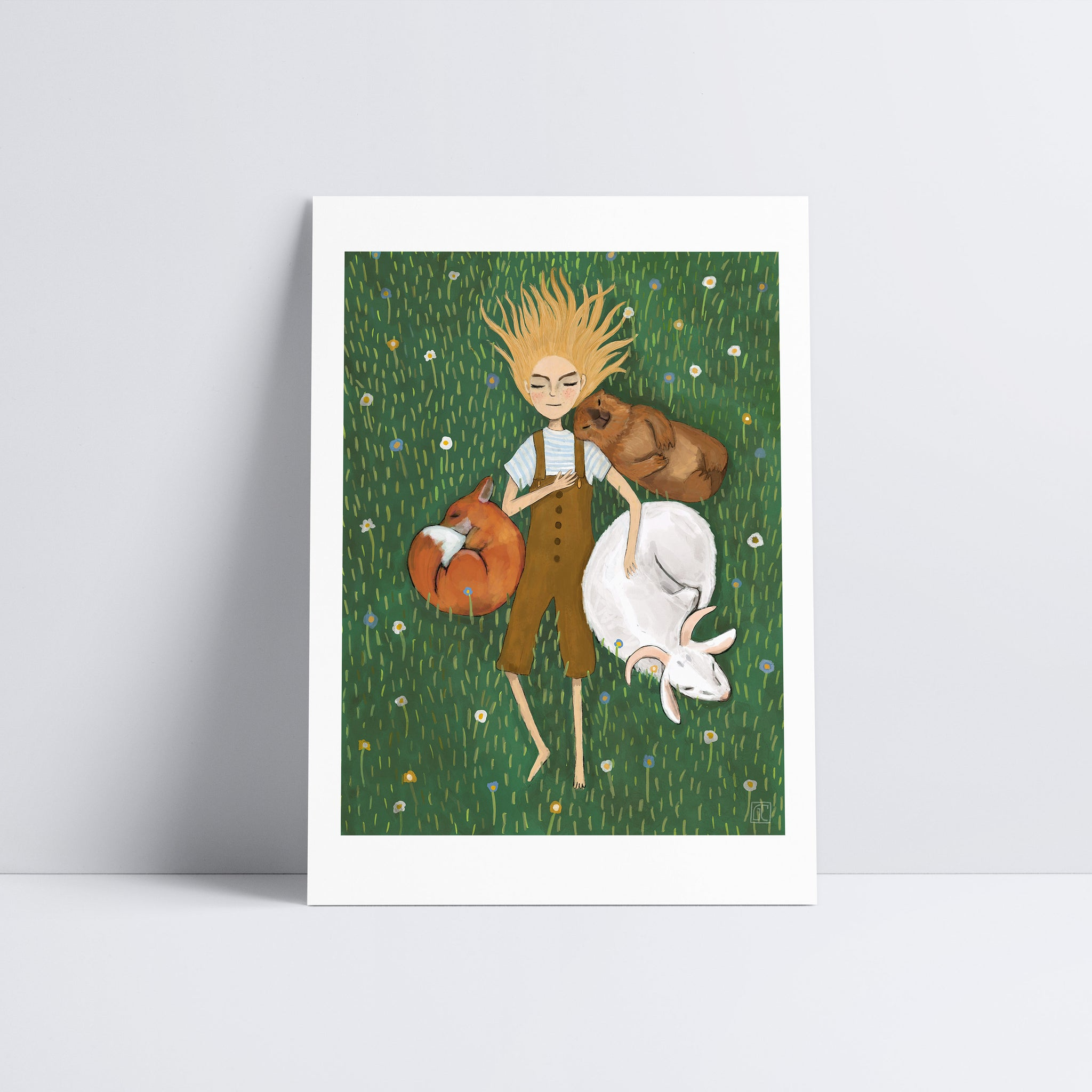 Sleeping in the Swiss Alps Art Print