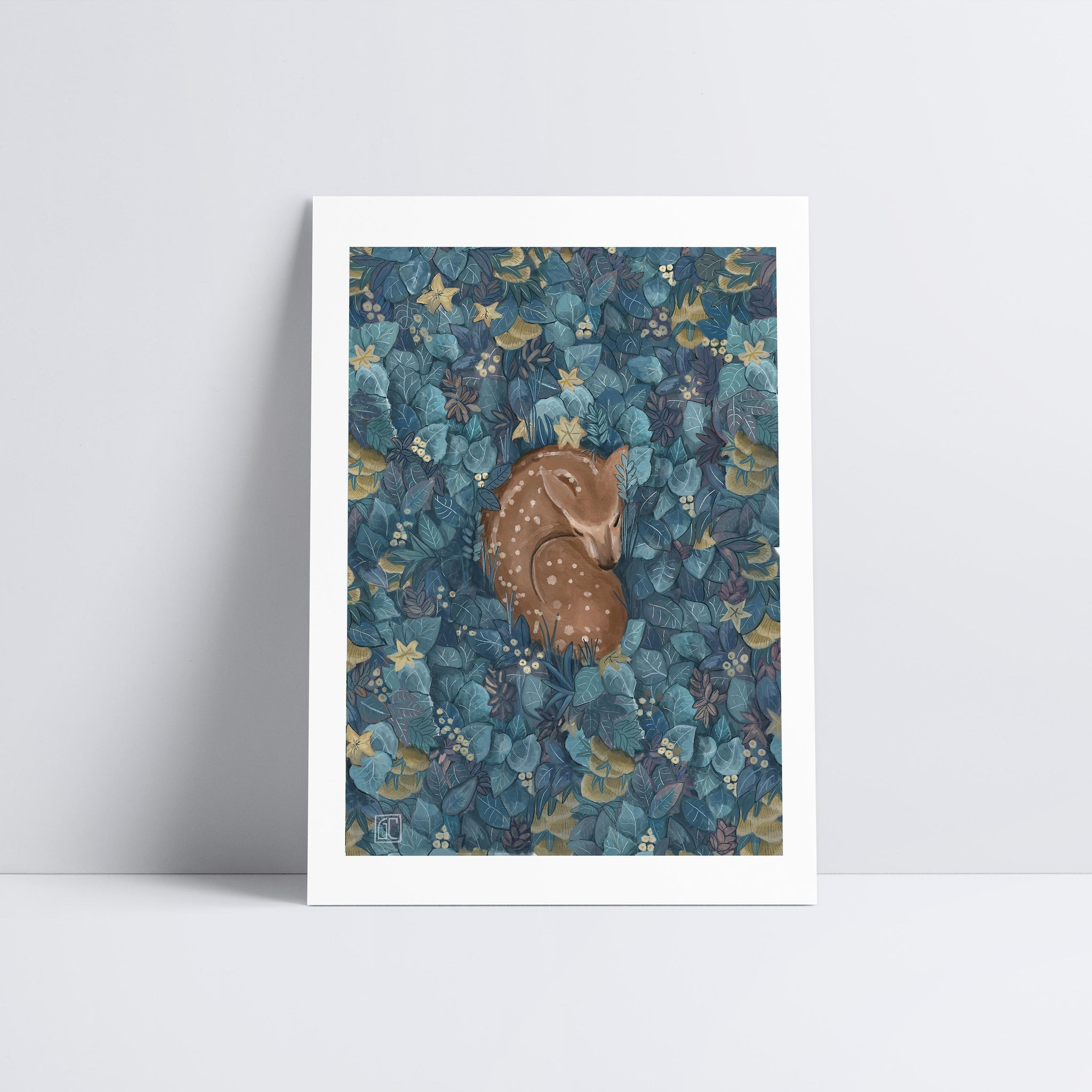 Sleeping Deer Art Print