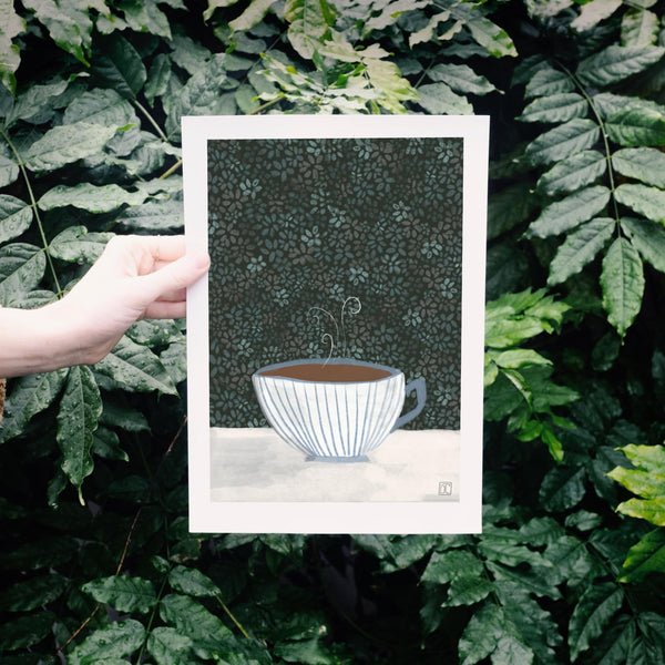A Secret Tea Garden Art Print