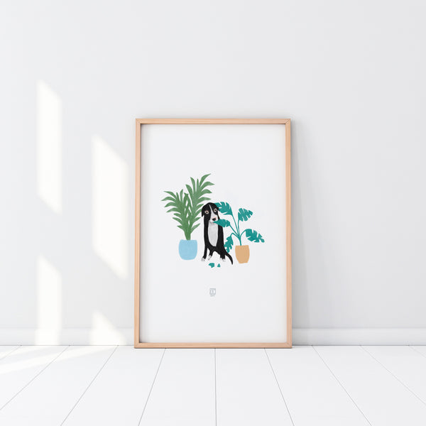SALE: Naughty Doggo Art Print