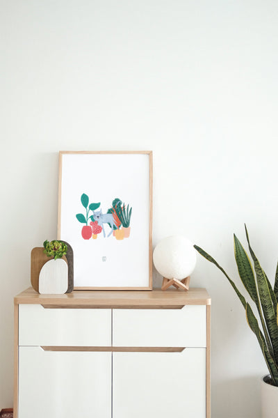 SALE: Cats and Plants Art Print
