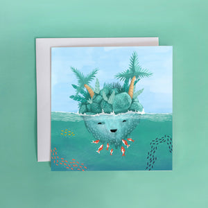 Island Tickles Greeting Card