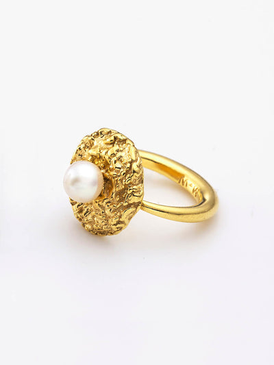 Sparkling Ring & Pearl