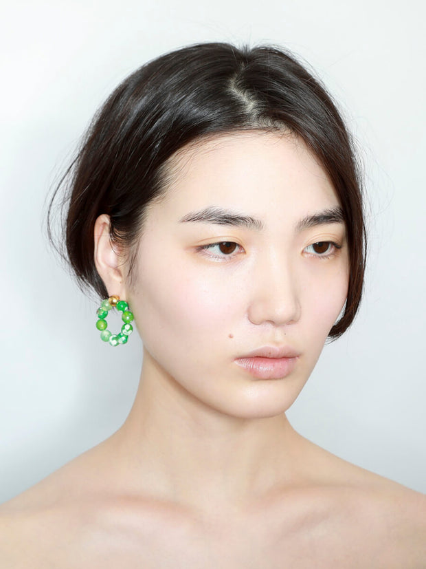 Agate Fresh Green Hoops