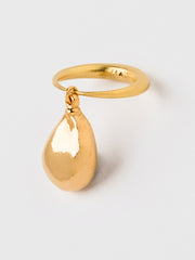Ring with a Gold Pearl