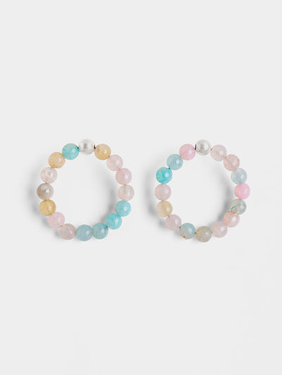 Agate Candy Statement Hoops