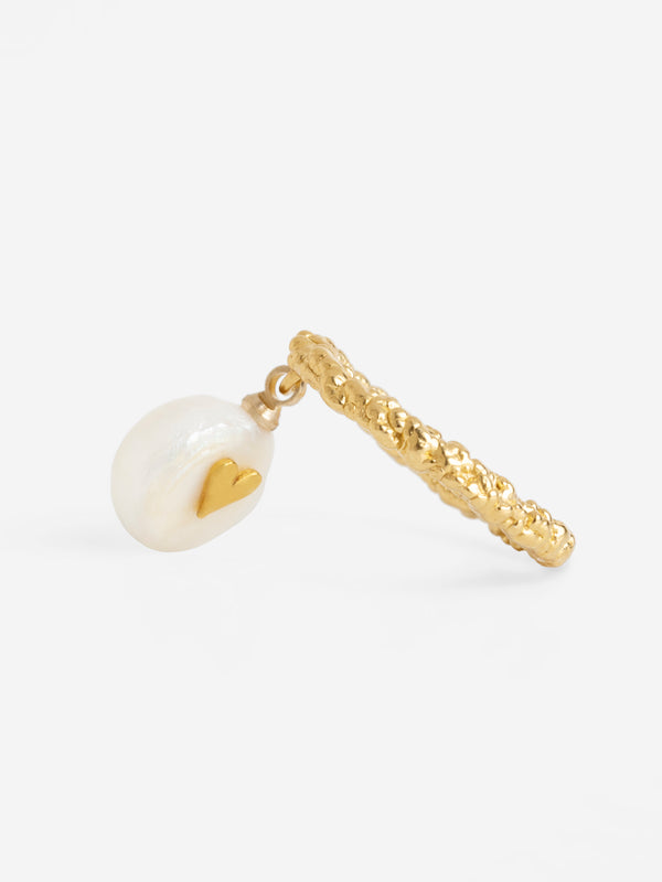 SWINGING PEARL SPARKLING RING