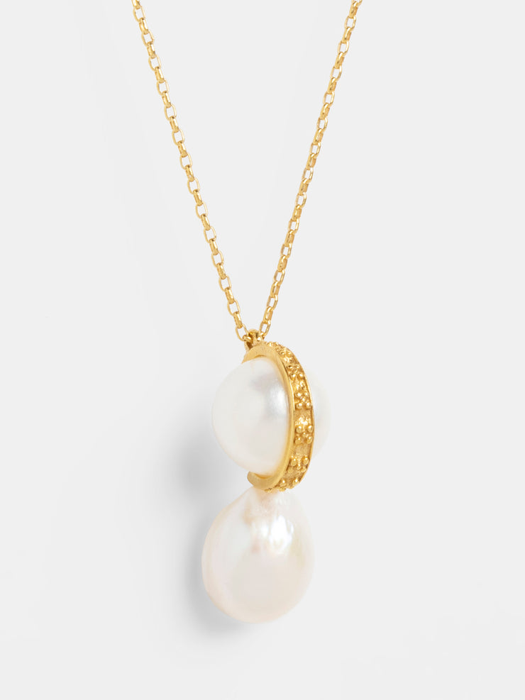 Double Pearls Pendant