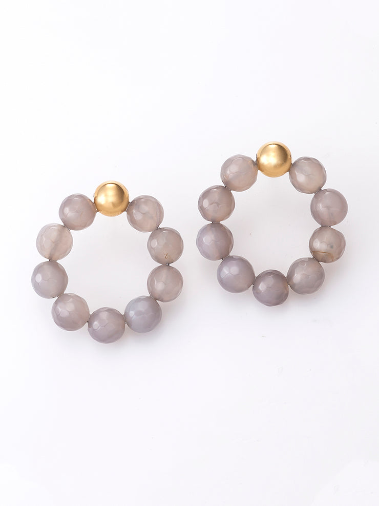 Agate Grey Shades Hoops