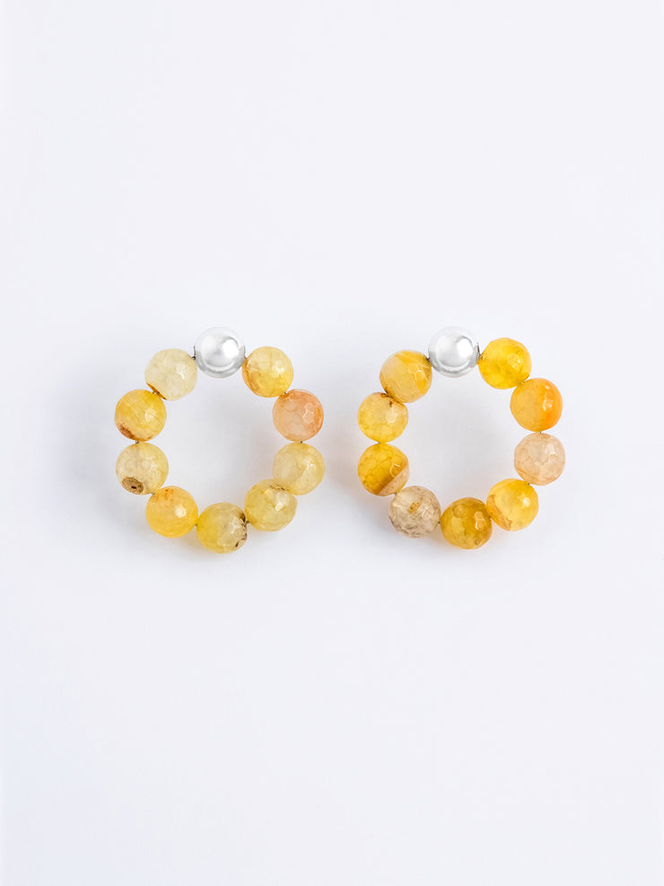 Agate Yellow Hoops