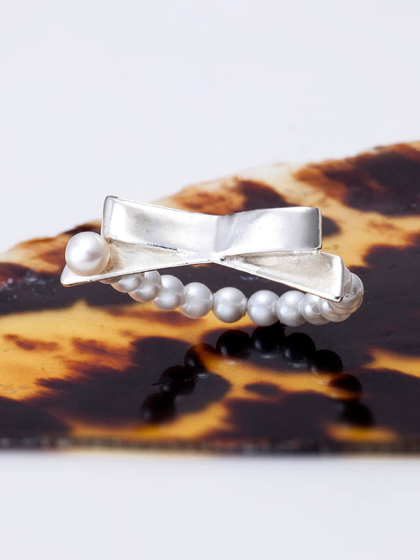 BOW PEARLS RING