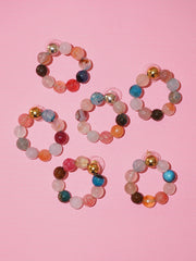 Agate Multi color Hoops