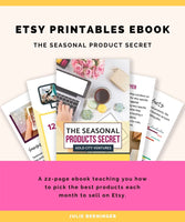 The Seasonal Products Secret - 12 Months of Etsy Printables Ideas