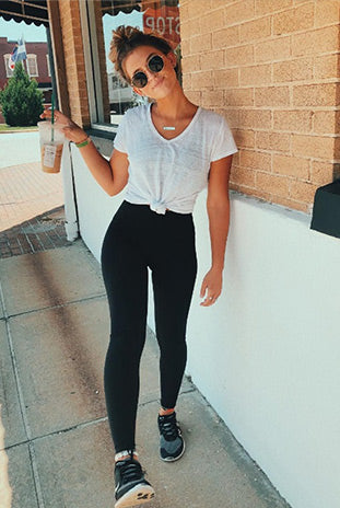 Athleisure Leggings with Simple T-shirt