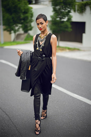 Edgy and Fierce Leggings & Dress Style