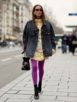 Quirky and Fun - Pink Leggings with Fresh Dress
