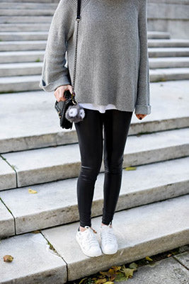 Warm Leggings with Sweater Style