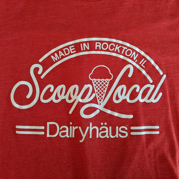 "a ""scoop local"" t-shirt"