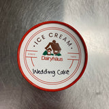 a quart of wedding cake ice cream
